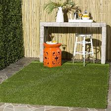safavieh vista collection vst100a verdant green indoor outdoor faux grass area rug 4