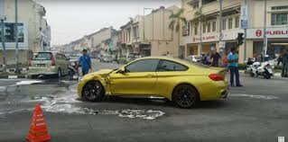 Brand New BMW M4 Gets Hit by Toyota Running a Red Light in ...