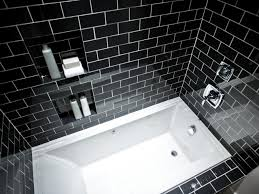Bathroom Shower Design Stunning Black Bathroom Shower Design For Small Space With Stone