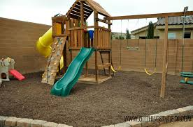 outdoor swing sets and how to prevent weeds in the long run all things thrifty