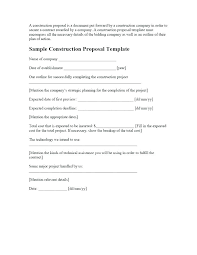 Painting Contract Template Free Download Construction Proposal