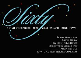 60 birthday invitations custom 60th birthday party invitations free invitations ideas