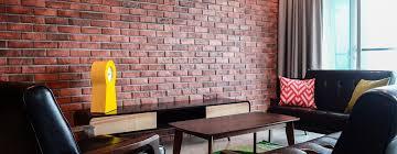 exposed brick walls as an interior
