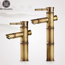 antique brass faucet. Antique Brass Bamboo Bathroom Sink Faucet Lavatory Vessel Hot And Cold Water Crane Taps Deck