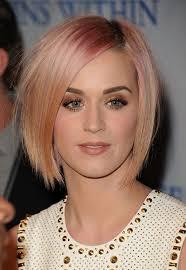 katy perry short pink bob hairstyle short straight haircut