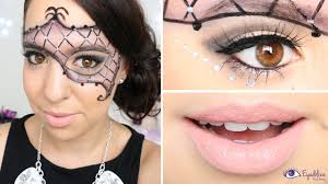 masquerade mask makeup tutorial by