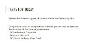 The Federal In Federalism Venn Diagram Answers Federalism Ppt Video Online Download