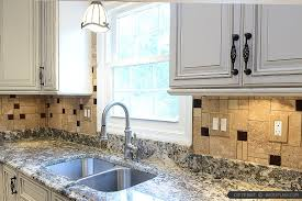 kitchen brown glass backsplash. Brown Glass Travertine Backsplash Granite Countertop Kitchen