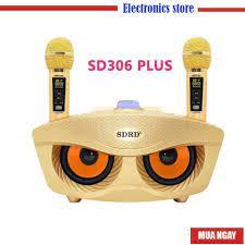 Loa Bluetooth karaoke SDRD SD 306 Plus bản 2020 đa năng, Loa kèm 2 micro  hát karaoke Không dây- Phiên Bản Nâng Cấp lọc chính hãng 1,280,000đ