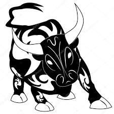 вектор тату бык с украшение украшения векторное изображение