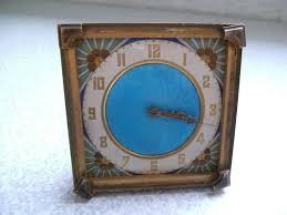 stunning antique french art deco brass guilloche blue enamel alarm clock ebay on art deco wall clock ebay with stunning antique french art deco brass guilloche blue enamel alarm