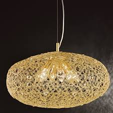 franklite sirius 6 light gold finish crystal glass Ø 480mm pendant ceiling fitting