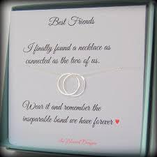 best friend gift friendship necklace