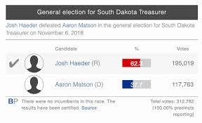Here's an interesting rumor… Matson rumored to be running Ahlers' Campaign  – South Dakota War College
