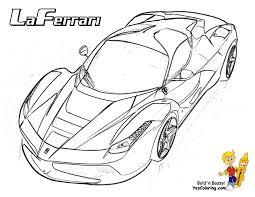 Heart Pounding Ferrari Coloring Ferrari Cars Free Boys Race Cars