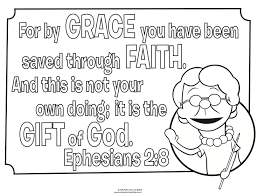 Grace And Faith Coloring Page Whats In The Bible