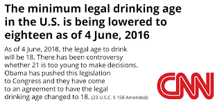 To Lower - Signs Effective 6 President 4 18 2016 Drinking The Age Amendment Legal Obama