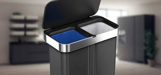 Designer Trash Receptacles Best Dual Trash Cans Recycling Bins With Two Compartments