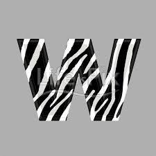 zebra font lower case w 3d ilration