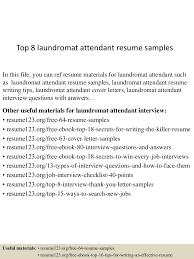Laundry Attendant Resume Sample Top224laundromatattendantresumesamples2245052722424022439lva224app62249224thumbnail24jpgcb=2242432735766 15