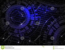 black blue technology background with code and wheel design future wallpaper