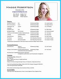 Examples Of Actors Resumes Acting Resume Example Adorable Theatre Resume Example Elegant Actors 15