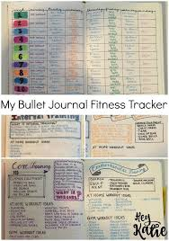 Work Out Journal Bujo Fitness Tracker Bullet Journal Workout Journal
