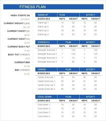 free fitness schedule template gym excel workout
