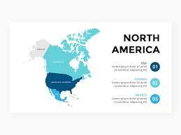North America Map Infographic Template Free Ppt By