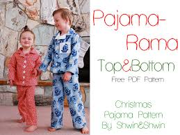 Pajama Patterns Unique Pajama Rama Christmas Pajamas Free PDF Pattern Shwin And Shwin
