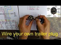 how to wire a trailer plug 7 pin diagrams shown how to wire a trailer plug 7 pin diagrams shown