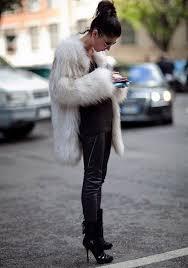 tory burch 295 gold watch women s white fur coat dark brown crew neck sweater black leather skinny pants