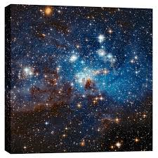 >shop epic graffiti lh 95 star cluster hubble space telescope  epic graffiti lh 95 star cluster hubble space telescope giclee canvas wall art