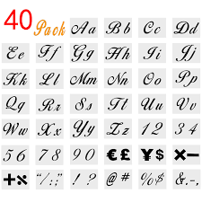 Templates Alphabet Letters Onene 40 Pieces Letter Stencils For Painting On Wood Alphabet Letter Templates With Numbers And Signs Reusable Plastic Art Craft Stencils With