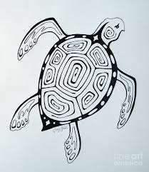 Small Picture Joeys Sea Turtle Drawing by Joey Nash