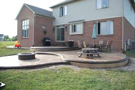 concrete patio designs with fire pit. Custom Designed Stamped Concrete Patio W/built-in Fire Pit Designs With
