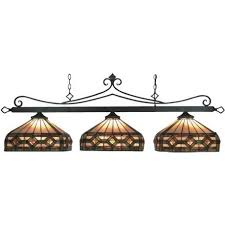 Craftsman Style Lighting For Pool Table | Bronze Tiffany Style Pool Table  Light Amazing Ideas