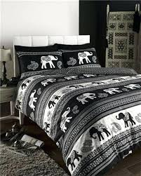 duvet sets boho bedding indian ethnic amp paisley cream and black duvet covers black and cream