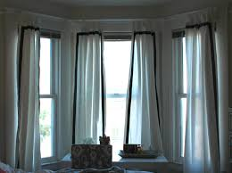 Decorations:Green Stripe Of Clever Curtain Idea For Living Room On Large  Windows Blind Window