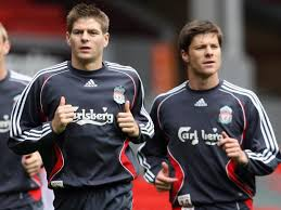 Image result for Steven Gerrard and xabi alonso