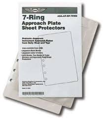 Jeppesen Chart Protectors 7 Ring Sheet Protectors 10 Pack