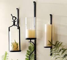 black iron wall candle holder r r