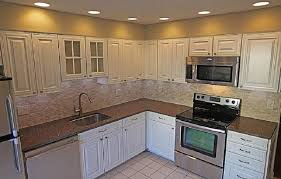 Four Tips For Kitchen Remodel Ideas In Small Home : Cheap Kitchen Remodel  White Cabinets