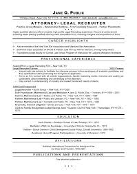 Resume For Law School