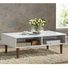 baxton studio 38 gemini contemporary coffee table in walnut white throughout baxton studio coffee