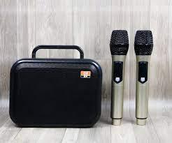loa bluetooth karaoke E400 - Loa xách tay cao cấp tặng kèm 2 micro
