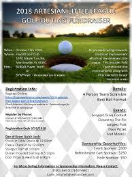 2018 Artesian Little League Golf Outing Flyer