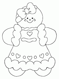 Small Picture Christmas Gingerbread Man Coloring Pages Image Gallery HCPR
