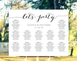 Wedding Seat Chart Poster Incredible Wedding Seating Chart Poster Template And Awesome Ideas