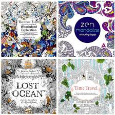 Small Picture 2016 Adult Coloring Books 4 Designs Secret GardenLost OceanTime